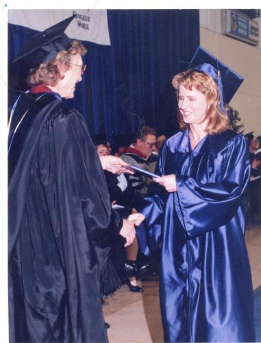 Graduation day at Waukesha Tech. College May 16, 1997